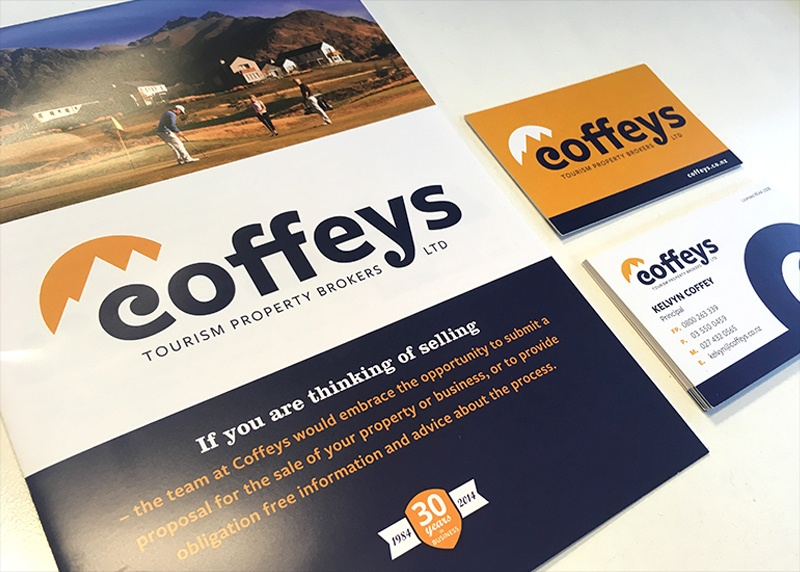 christchurch logo design for Coffeys tourism property brokers