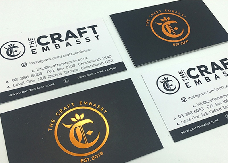 logo design for the craft embassy in christchurch
