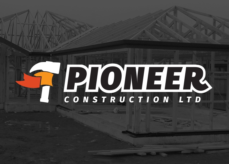 Logo design Christchurch for Pioneer Construction