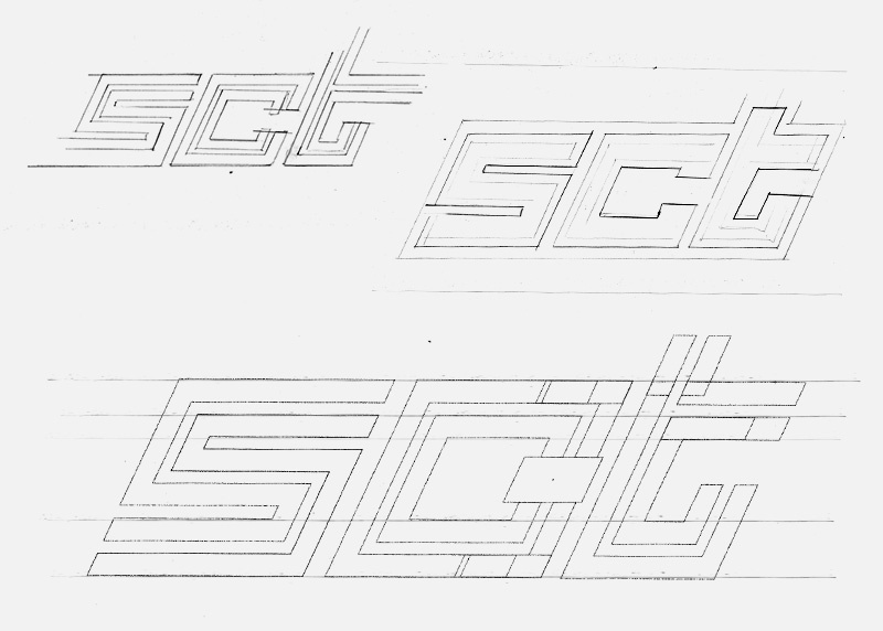 logo design sketch for SCT