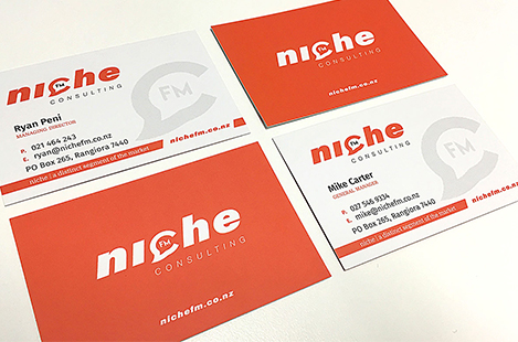 Niche Consulting Brand Logo and Business Cards Design