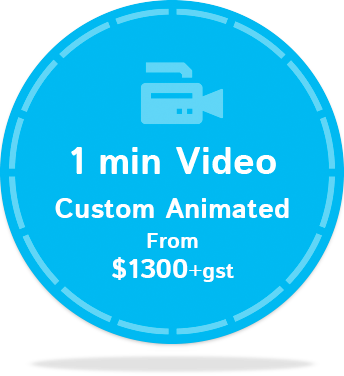 1min Video Custom Animated $1300+gst