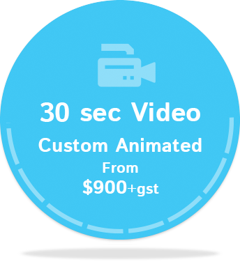 30sec Video Custom Animated $900+gst