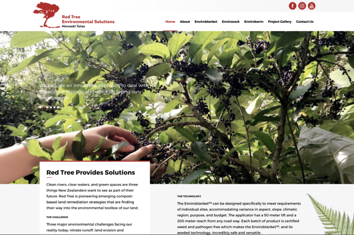 website for Red Tree Environmental Solutions