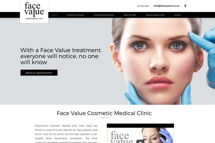 Website for Face Value Christchurch