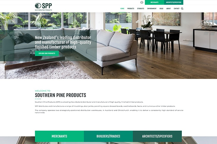 website design for southern pine products